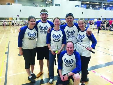 Mitarbeiter von WIKA Kanada bei der Firmenolympiade - hier in der Disziplin Badminton