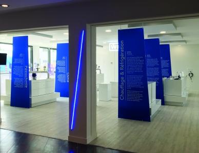 The new premises include an impressive showroom.