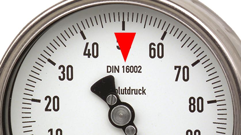 绝压表生产标准:DIN 16002