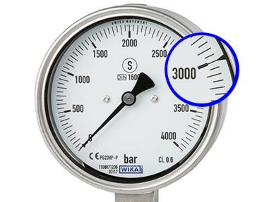 High-pressure gauge PG23HP-P