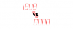 不同位数的数显仪