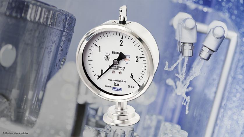 卫生型压力表:防护等级达IP68,无惧外部清洁